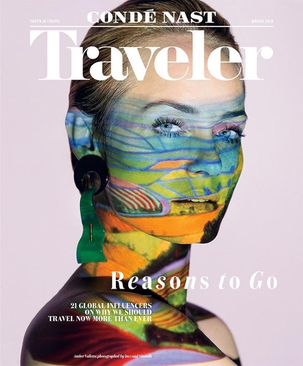 Condé Nast Traveler March 2016 : Amber Valletta by Inez & Vinoodh