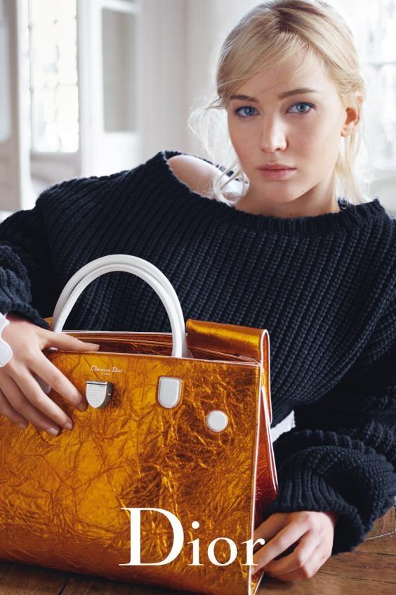 Christian Dior Handbags S/S 2016 : Jennifer Lawrence by Mario Sorrenti