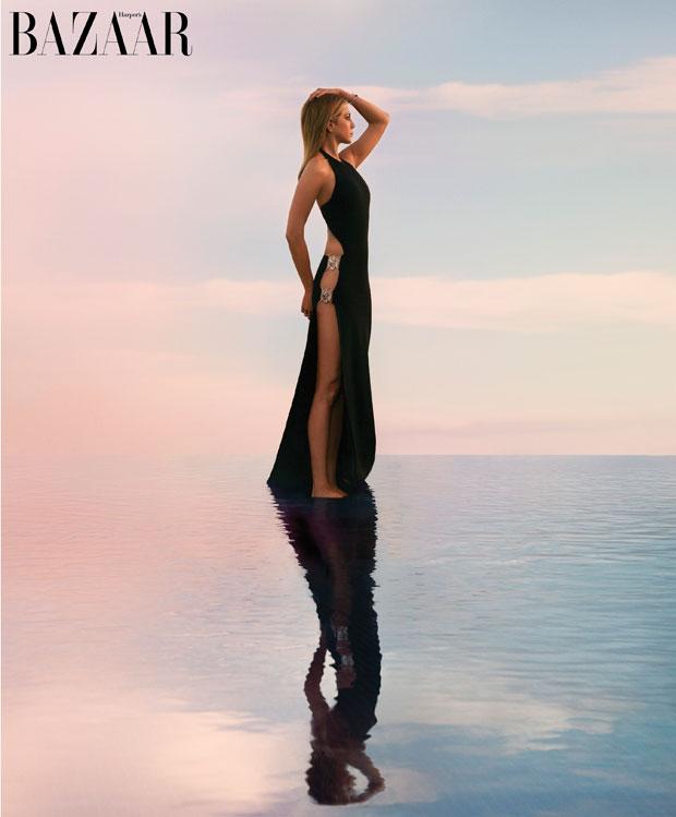Jennifer Aniston subscriber's cover Harper's Bazaar April 2016