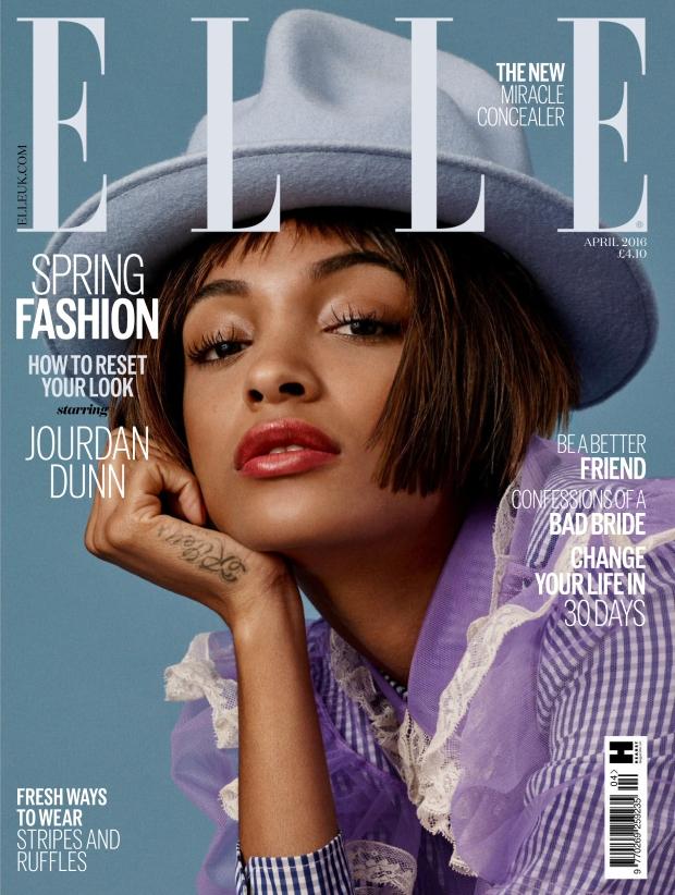 UK Elle April 2016 : Jourdan Dunn by Bjarne Jonasson