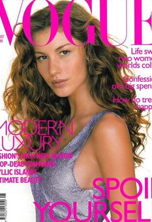 Gisele Bündchen's first international magazine cover.