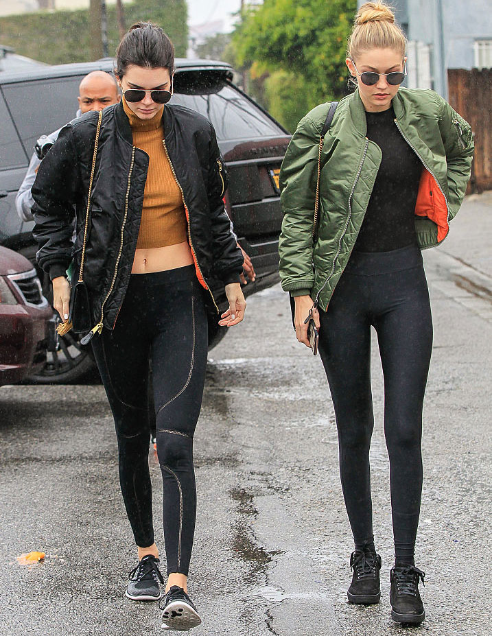 Kendall Jenner and Gigi Hadid show us how to wear yoga pants around town;