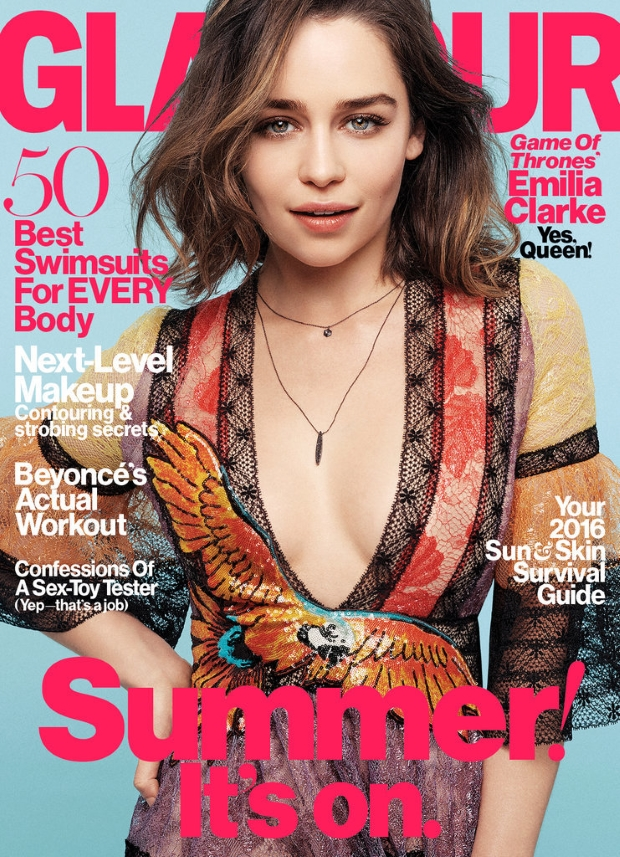 US Glamour May 2016 : Emilia Clarke by Steven Pan