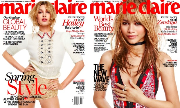 US Marie Claire May 2016 : Kylie, Hailey, Zendaya, Ellie & Gugu by Tesh