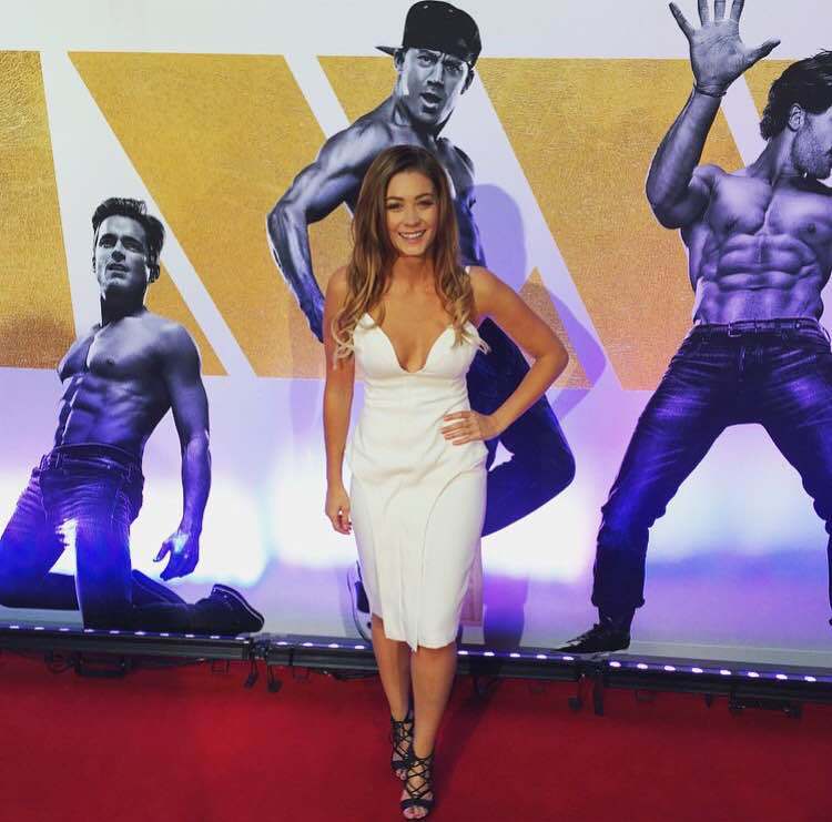 Lisa Hyde at the premiere of Magic Mike XXL in Sydney.