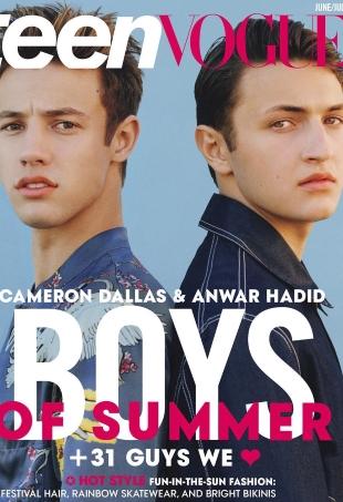 Teen Vogue June/July 2016 : Cameron Dallas & Anwar Hadid by Coco Capitán
