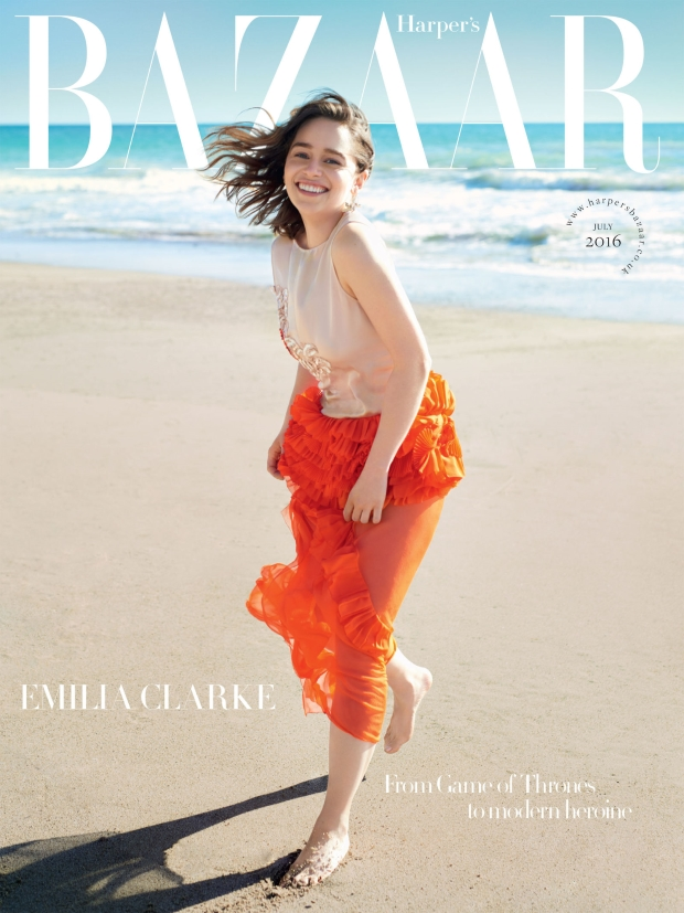 UK Harper's Bazaar July 2016 : Emilia Clarke by David Slijper