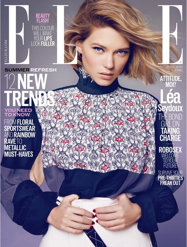 UK Elle June 2016 : Léa Seydoux by Kai Z Feng