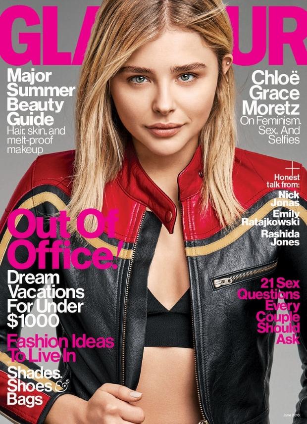 US Glamour June 2016 : Chloe Grace Moretz by Steven Pan