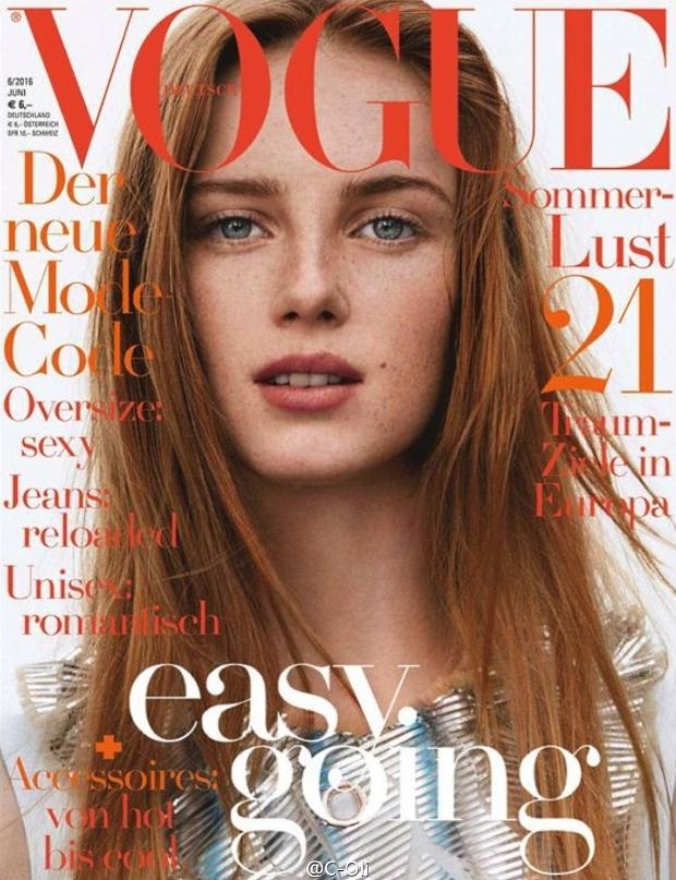 Vogue Germany June 2016 : Rianne van Rompaey by Daniel Jackson