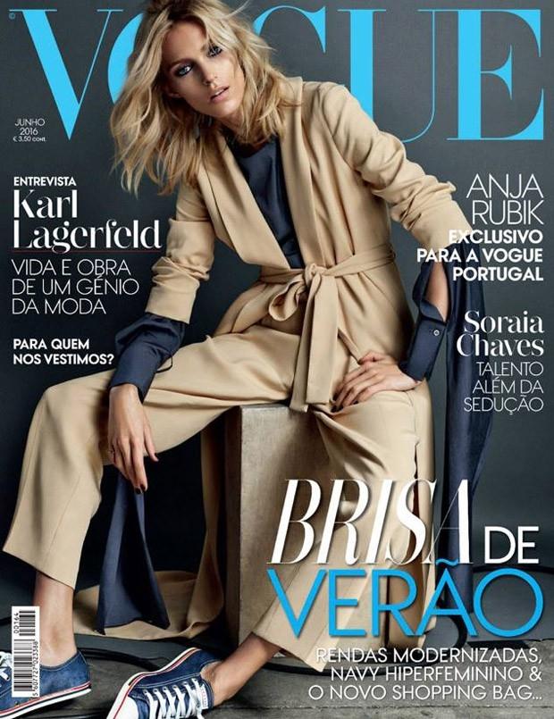 Vogue Portugal June 2016 : Anja Rubik by Hunter & Gatti