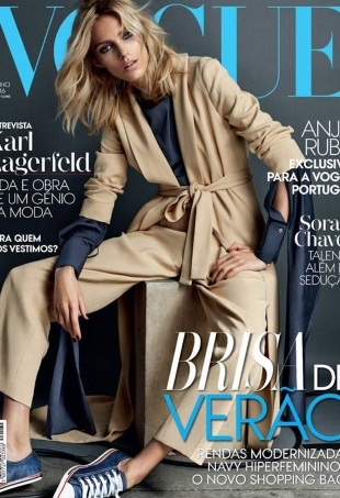 Vogue Portugal June 2016 : Anja Rubik by Hunter & Gatti