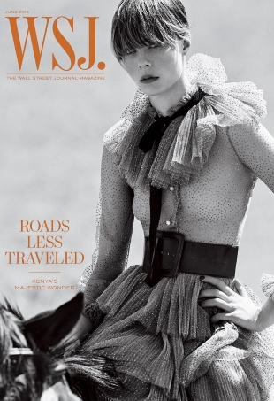 WSJ Magazine June 2016 : Anna Ewers & Edie Campbell by Mikael Jansson