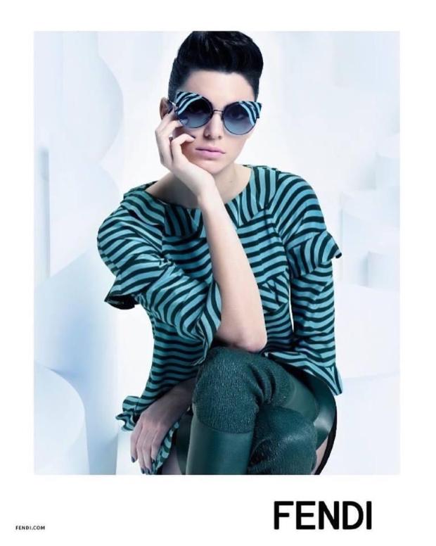 Fendi F/W 2016.17 : Kendall Jenner by Karl Lagerfeld