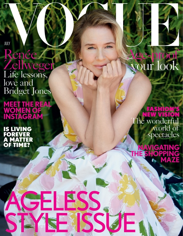 UK Vogue July 2016 : Renée Zellweger by Patrick Demarchelier
