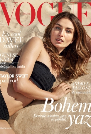 Vogue Turkey June 2016 : Andreea Diaconu by Dan Martensen
