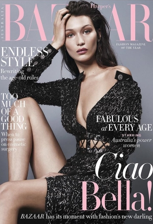 Harper's Bazaar Australia August 2016 : Bella Hadid by Georges Antoni