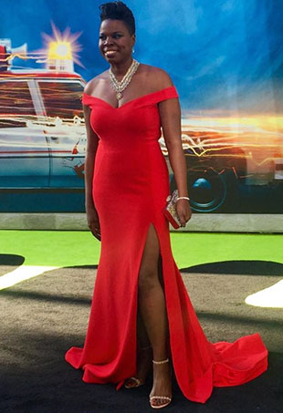 Badass comedian Leslie Jones, whom several unnamed designers would not dress for the red carpet, stole the show at Saturday night's Ghostbusters premiere.