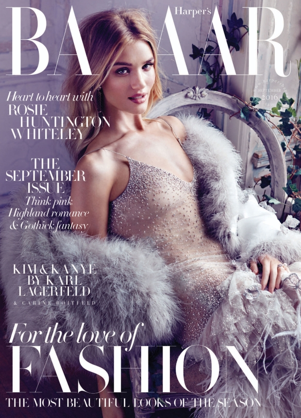 UK Harper's Bazaar September 2016 : Rosie Huntington-Whiteley by Alexi Lubomirski