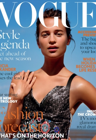 UK Vogue August 2016 : Alicia Vikander by Alasdair McLellan