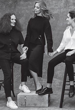 Grace Coddington and her former assistants aka disciples.