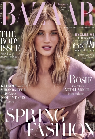 Harper's Bazaar Australia October 2016 : Rosie Huntington-Whiteley by Pamela Hanson
