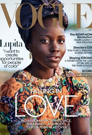 US Vogue October 2016 : Lupita Nyong'o by Mario Testino