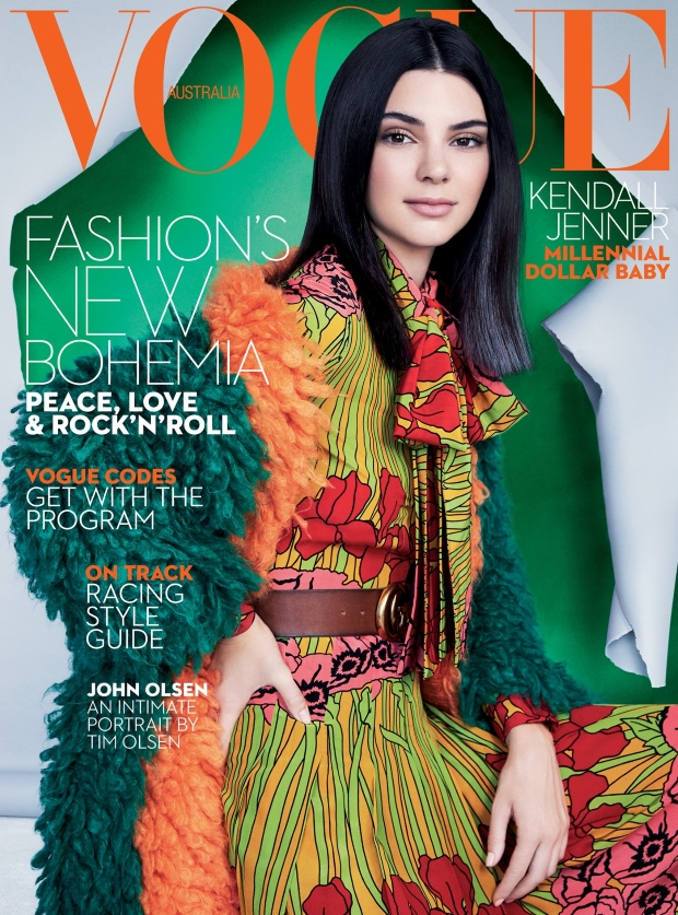 Vogue Australia October 2016 : Kendall Jenner by Patrick Demarchelier