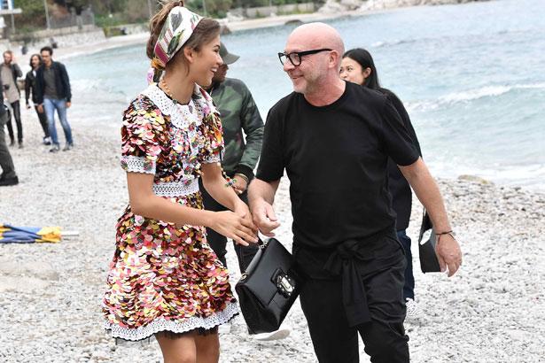 Zendaya and Domenico Dolce; Image: Courtesy of Dolce&Gabbana