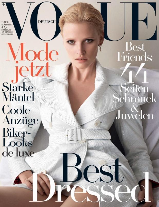 Vogue Germany November 2016 : Lara Stone by Camilla Åkrans