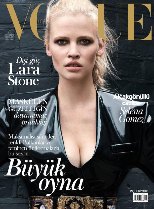 Vogue Turkey October 2016 : Lara Stone by Liz Collins