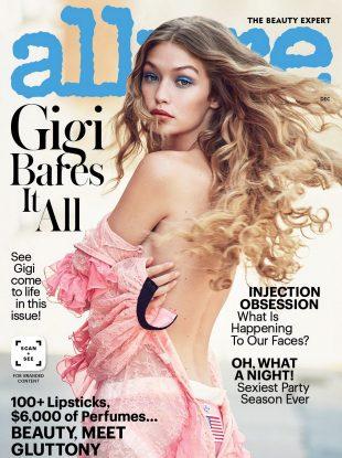 Allure December 2016 : Gigi Hadid by Patrick Demarchelier