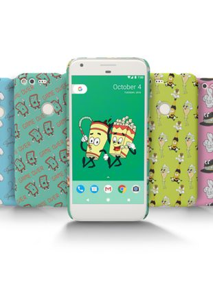Jeremy Scott's Live Cases for the Google Pixel phone.