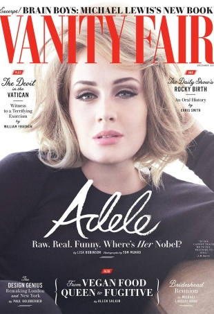 Vanity Fair December 2016 : Adele by Tom Munro