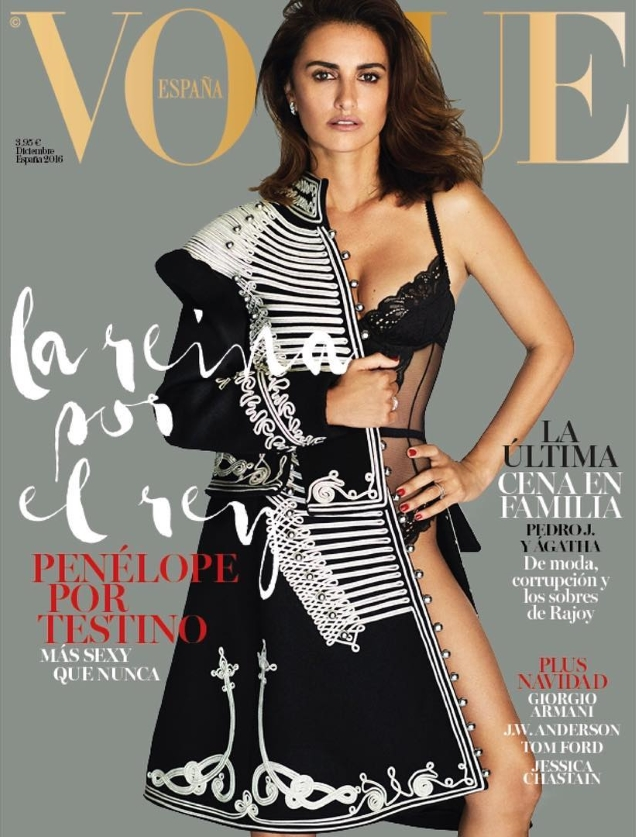 Vogue España December 2016 : Penélope Cruz by Mario Testino