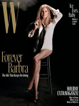 W December 2016 : Barbra Streisand by Steven Meisel