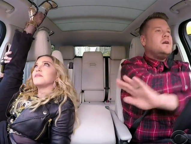 Madonna and James Corden do Carpool Karaoke