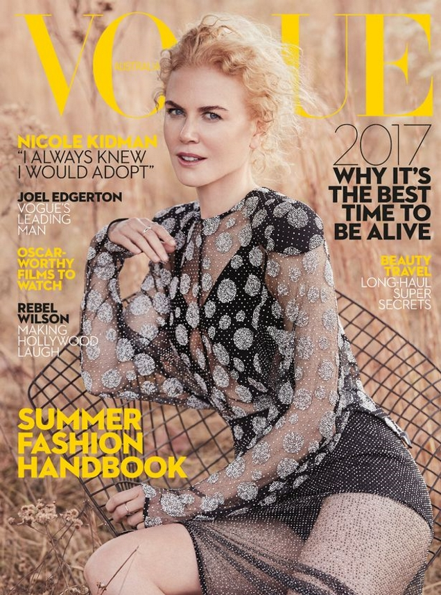 Vogue Australia January 2017 : Nicole Kidman by Will Davidson