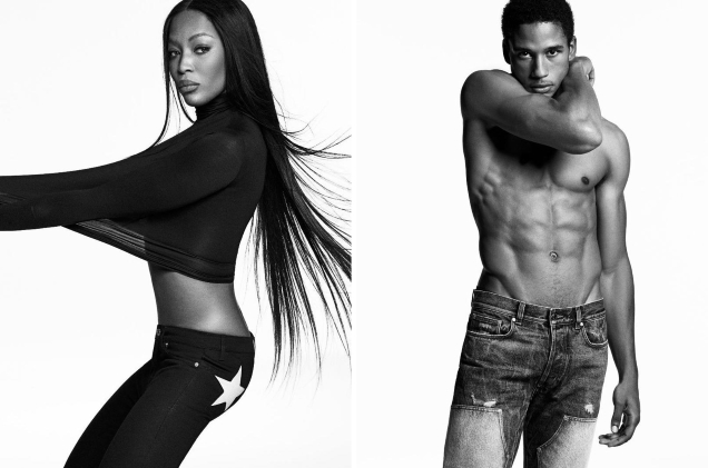 Givenchy Jeans S/S 2017 : Naomi Campbell & Justin Levy by Luigi & Iango