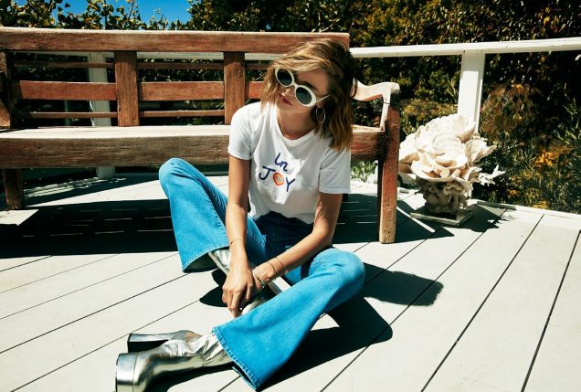 Miranda Kerr collaborated with Mother Denim on a 12-piece capsule collection.