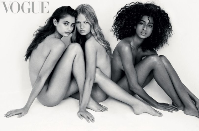 UK Vogue February 2017 : Imaan, Taylor & Anna by Patrick Demarchelier