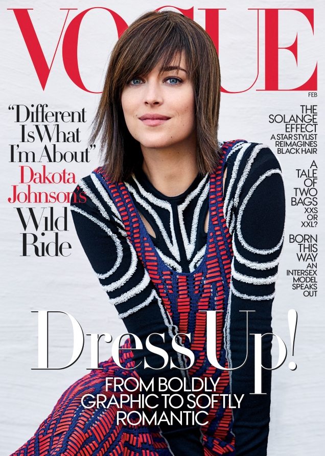 US Vogue February 2017 : Dakota Johnson by Patrick Demarchelier