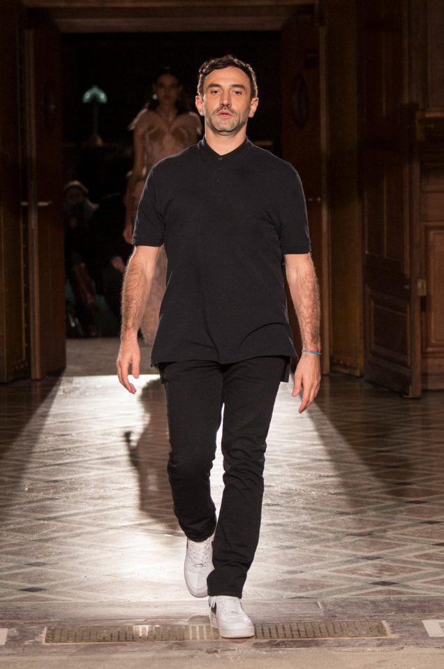 Riccardo Tisci walks his final Givenchy runway.