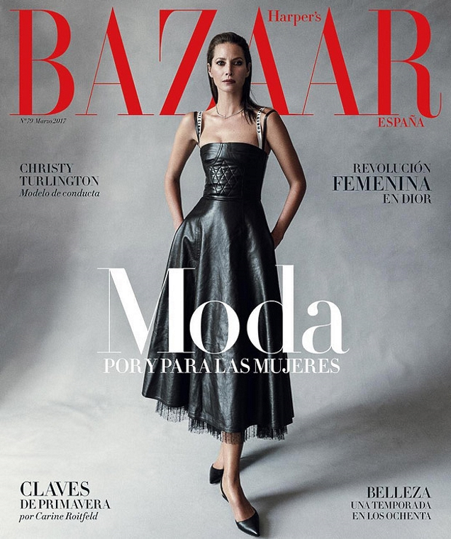 Harper's Bazaar España March 2017 : Christy Turlington by Norman Jean Roy