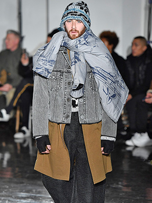"""Japanese label N.Hoolywood's Fall 2017 collection was inspired by — as founder and creative lead Daisuke Obana put it — """"street people."""""""