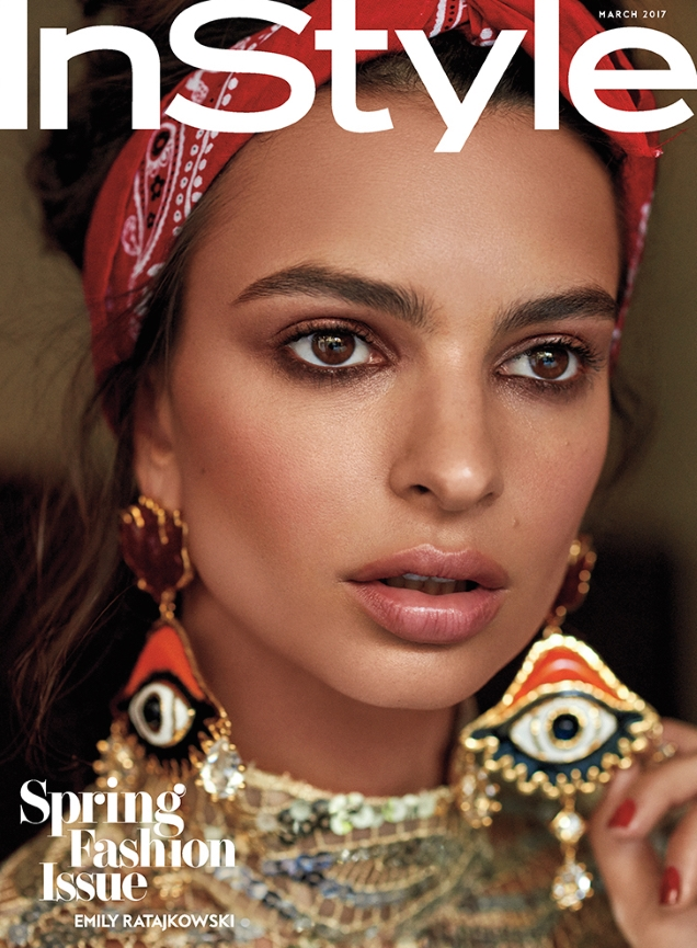US InStyle March 2017 : Emily Ratajkowski by Carter Smith