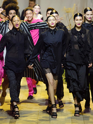 """The finale of the H&M Studio Spring 2017 """"see now, buy now"""" runway show."""