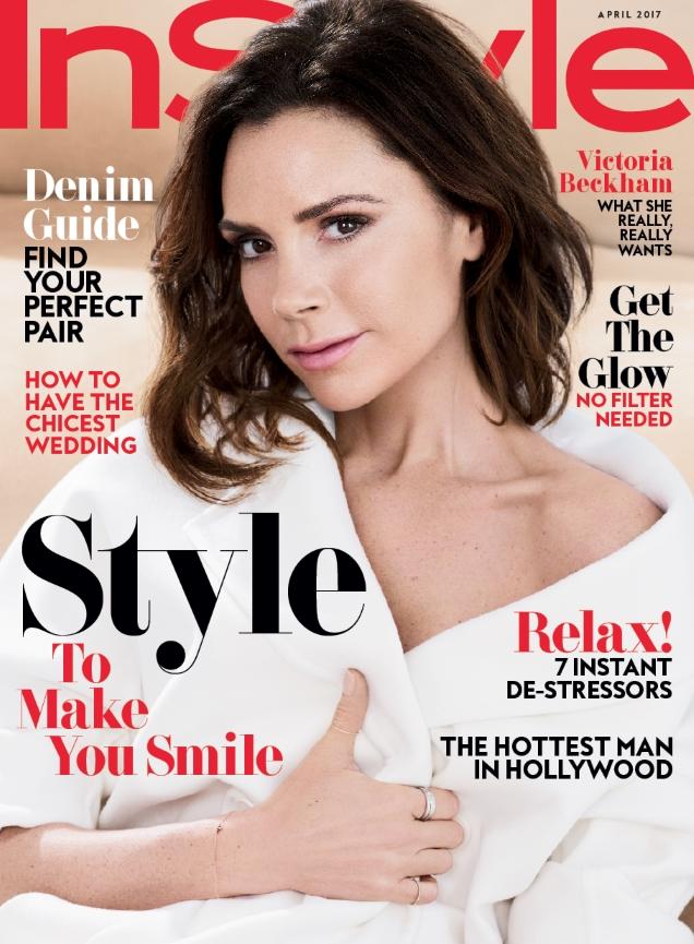 US InStyle April 2017 : Victoria Beckham by Pamela Hanson