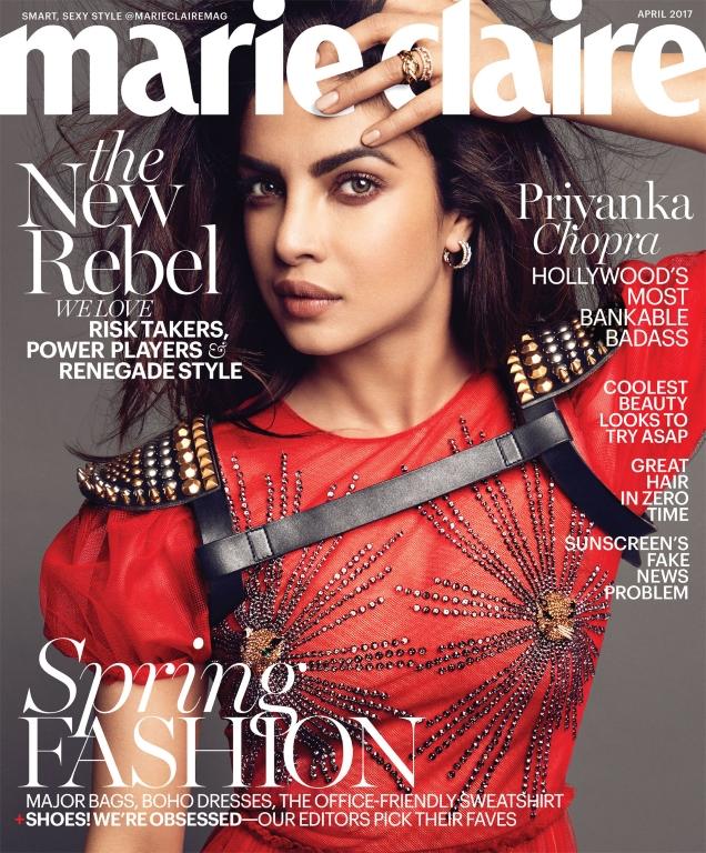 US Marie Claire April 2017 : Priyanka Chopra by Tesh