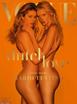 Vogue Netherlands April 2017 : Doutzen Kroes & Lara Stone by Mario Testino